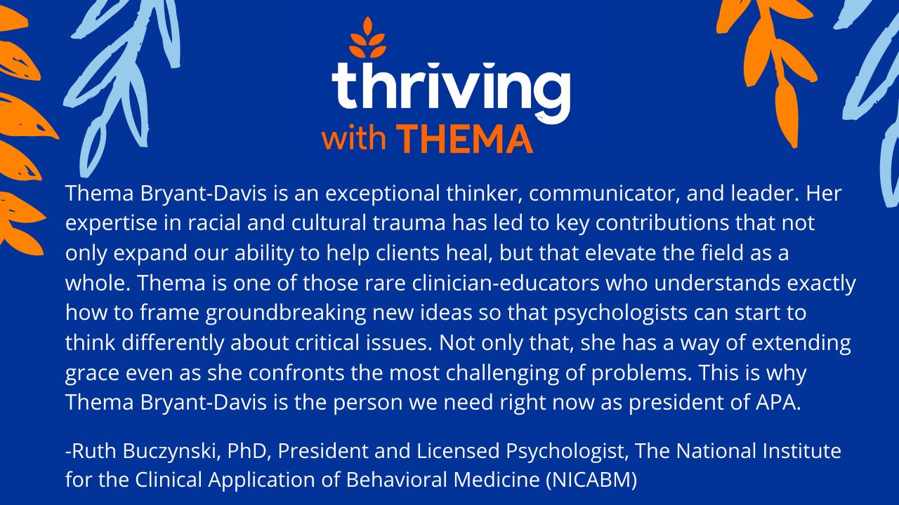Endorsement from Ruth Buczynski PhD